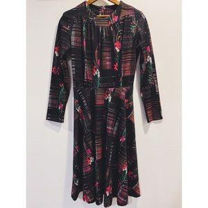 NWOT Vtg 70's Floral Dress